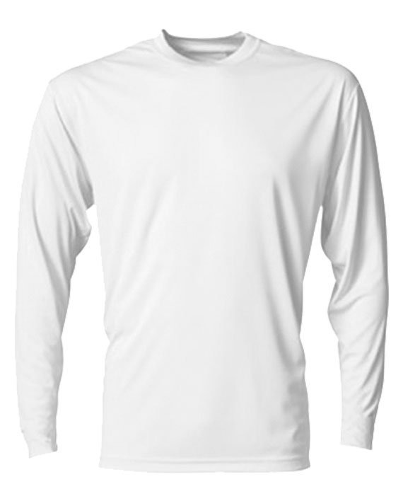 Playera C/R Dry Fit Caballero M/Larga